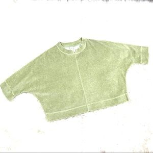 J Jill PS Cropped Velvet Pull Over Sweater Top